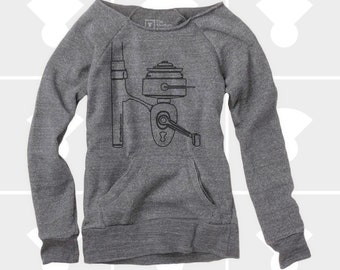 Slouchy Sweatshirt, Fishing Reel