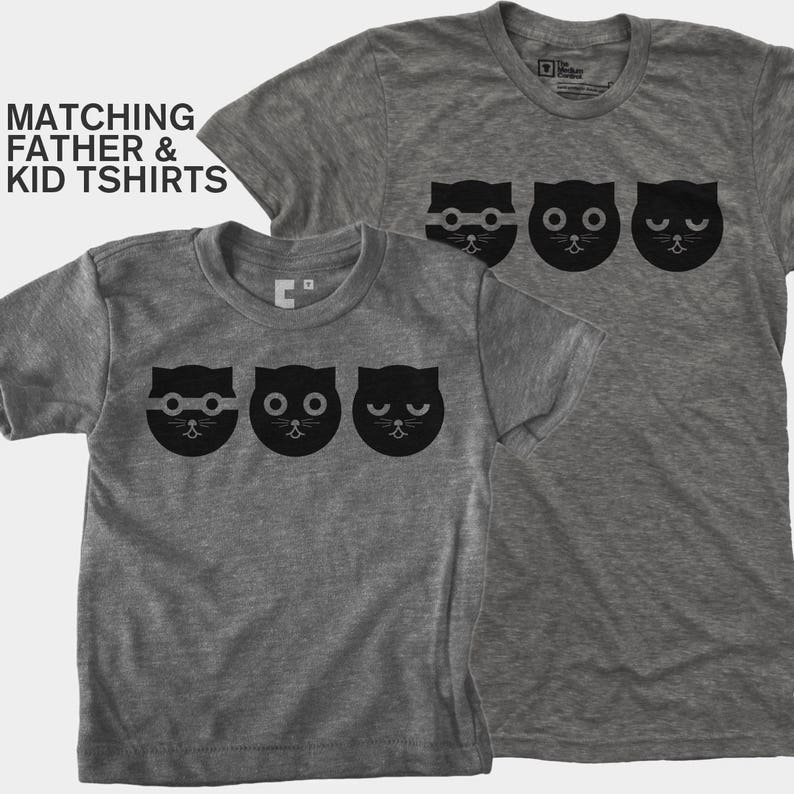 dee146efe66 Dad Gift Daddy and Me Cat Shirt Matching Shirt Father Son | Etsy