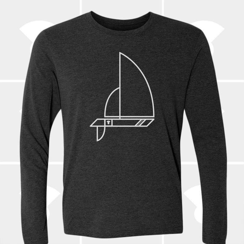 48a427c7 Sailboat Long Sleeve T Shirt Christmas Gift for Sailor Dad   Etsy