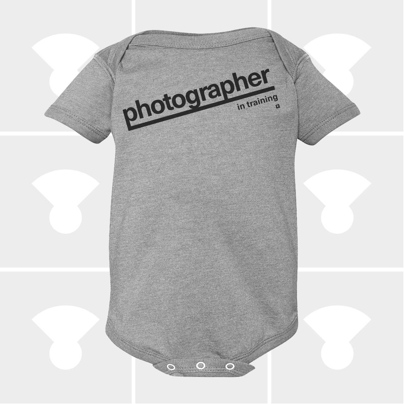 Photographer in training baby onesie
