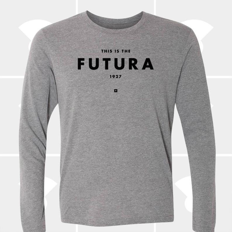 c70468e07 Long Sleeve T Shirt Futura Typography TShirt Christmas Gift   Etsy