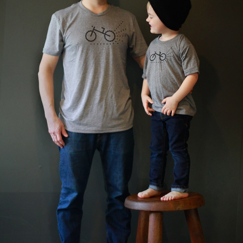 a76973a1 Fathers Day Gift: Father Son Matching Shirts Biker Dad Shirt | Etsy
