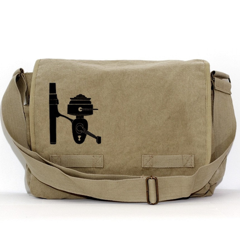 6504d8be0d Messenger Bag Fishing Reel Crossbody Large Canvas Bag Mens