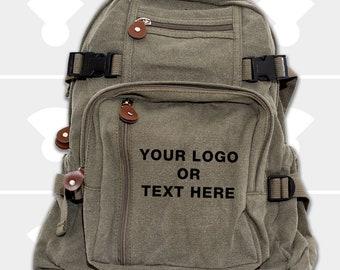 Backpack - Personalized Gift for Men - Groomsmen Gift Bags - Custom Backpack - Canvas Backpack - Monogrammed Backpack - Personalized Bag