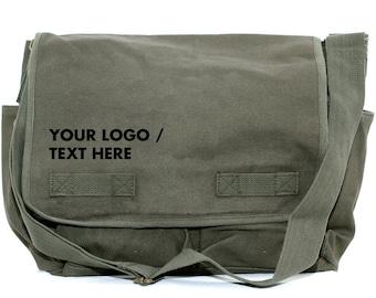 Personalized Groomsmen Gift Messenger Bag Wedding Gift for him Canvas Bag Monogram Best Man Gift