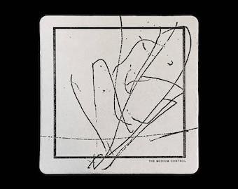 Abstract - Letterpress Coaster Set