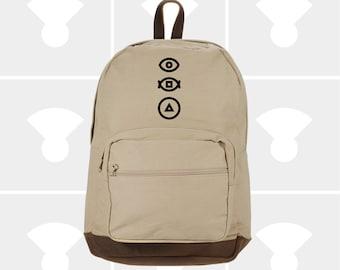 Bauhaus Eye - Leather Bottom Laptop Backpack