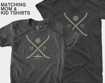 SALE! Mother Son Matching Skateboarding TShirts, Mommy and Me, Mother Daughter Matching Shirt, Mom and Baby Matching, Gift for Mom