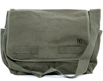 Canvas Messenger Bag - Custom Messenger Bag - Men & Women's Messenger Bag - Personalized Bag