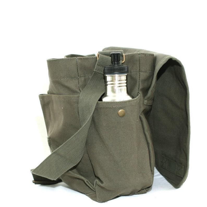 Personalized Bag Canvas Messenger Bag Custom Messenger Bag Men /& Women/'s Messenger Bag
