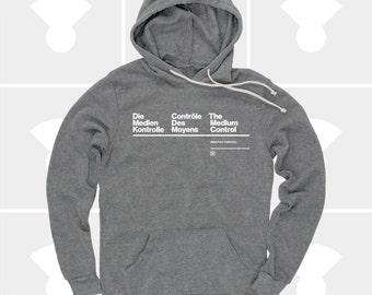 Men's Hoodie Sweatshirt, Men's Translation Pullover Sweatshirt, Typography, S,M,L,Xl,Xxl, Men Fashion, German, French, English (3 Colors)