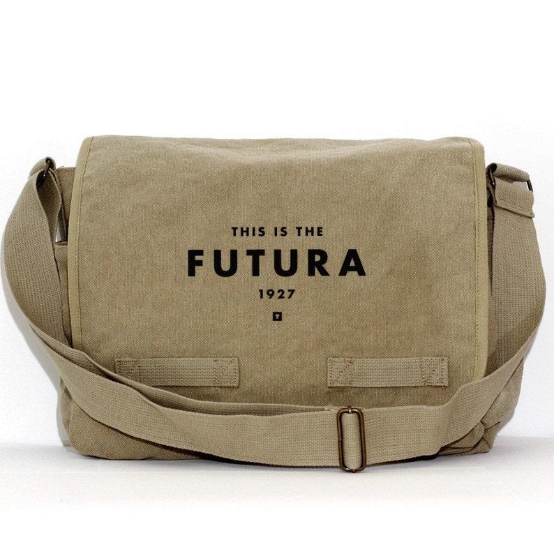 7dc825d25c Messenger Bag Futura Typography Crossbody Large Canvas Bag