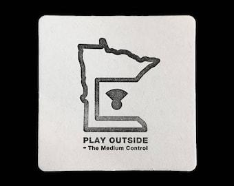 Play Outside Minnesota - Letterpress Coaster Set
