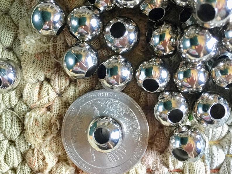 1000 Teenie Tiny Silver Plated Rondelle Beads BULK