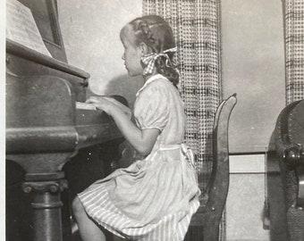 Little Piano Player - Found Photograph, Original Vintage Photo, Photograph, Old photo, Photography