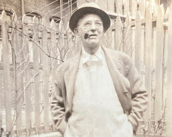 Uncle Henry the Butcher - Found Photograph, Original Vintage Photo, Photograph, Old photo, Photography
