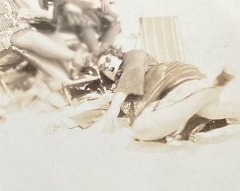 Beach Debacle - Found Photograph, Original Vintage Photo, Photograph, Old photo, Photography