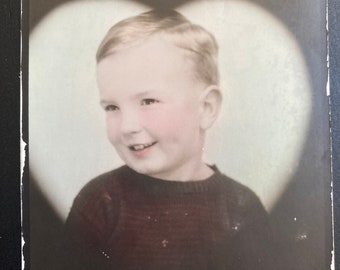 Heart Boy, Photo Booth Photobooth - Found Photograph, Original Vintage Photo, Photograph, Old photo, Photography
