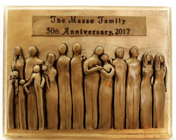 50th Anniversary Plaque, 50th Anniversary Gifts for him, 50th Anniversary Gifts for her, Anniversary Gifts, 50 year Wedding Anniversary gift