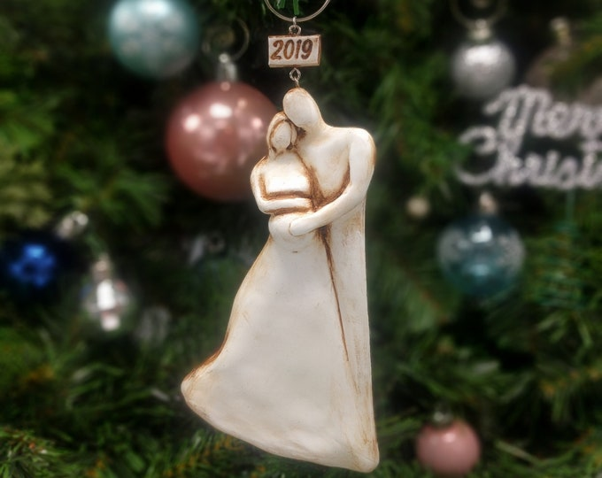 Pregnant Expecting Family Christmas Ornament