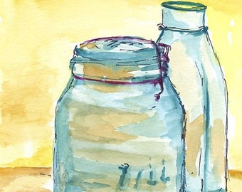 Watercolor Original Painting - Still Life