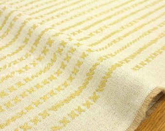 Japanese Fabric Kokka Kinari Jute cross - metallic gold, natural - 50cm