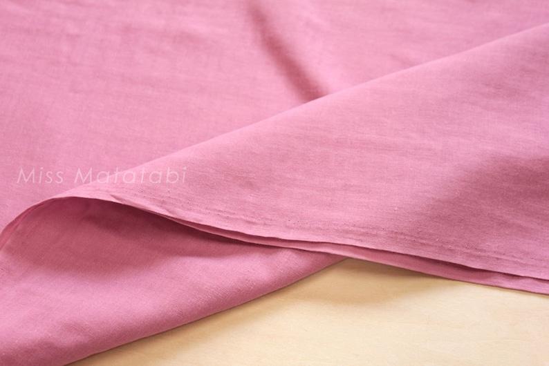 Japanese Fabric  Kobayashi solid double gauze  pink  50cm image 0