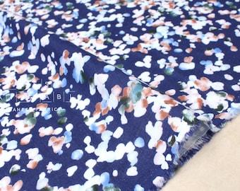 Double gaze tissu japonais - aquarelle florale - D - 50cm