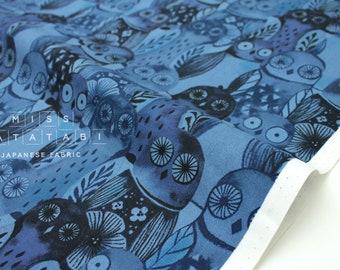 Cotton + Steel Eclipse - wise owls - blue - 50cm