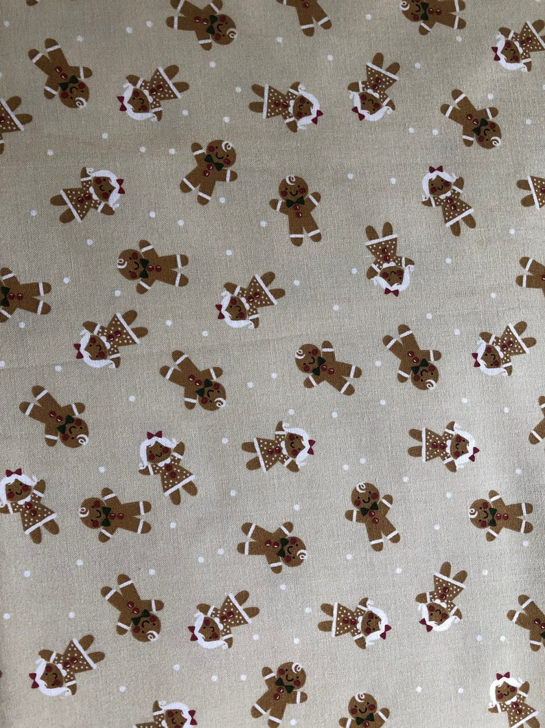 One or More yards of Cotton Quilting Fabric Quilting /& Crafting Supplies Christmas Sewing Gingerbread Boys and Girls