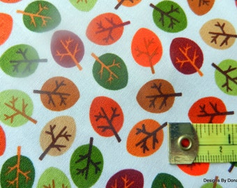 One Fat Quarter Cut Quilt Fabric, Little Fall Leaves, Sewing-Quilting-Craft Supplies