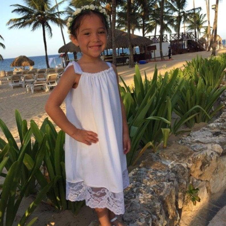 347b9a6cdf Beautiful white wedding flower girl beach portrait | Etsy