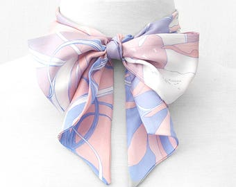 """Illustrated Silk Skinny """"Twilly"""" Scarf ~ Sample Sale ~ Free Shipping"""