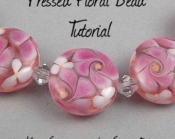Pressed Floral Lampwork Bead TUTORIAL
