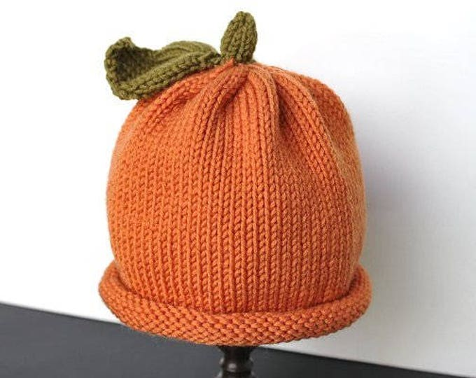 Pumpkin Hat, Knit Pumpkin Hat, Baby Pumpkin Hat