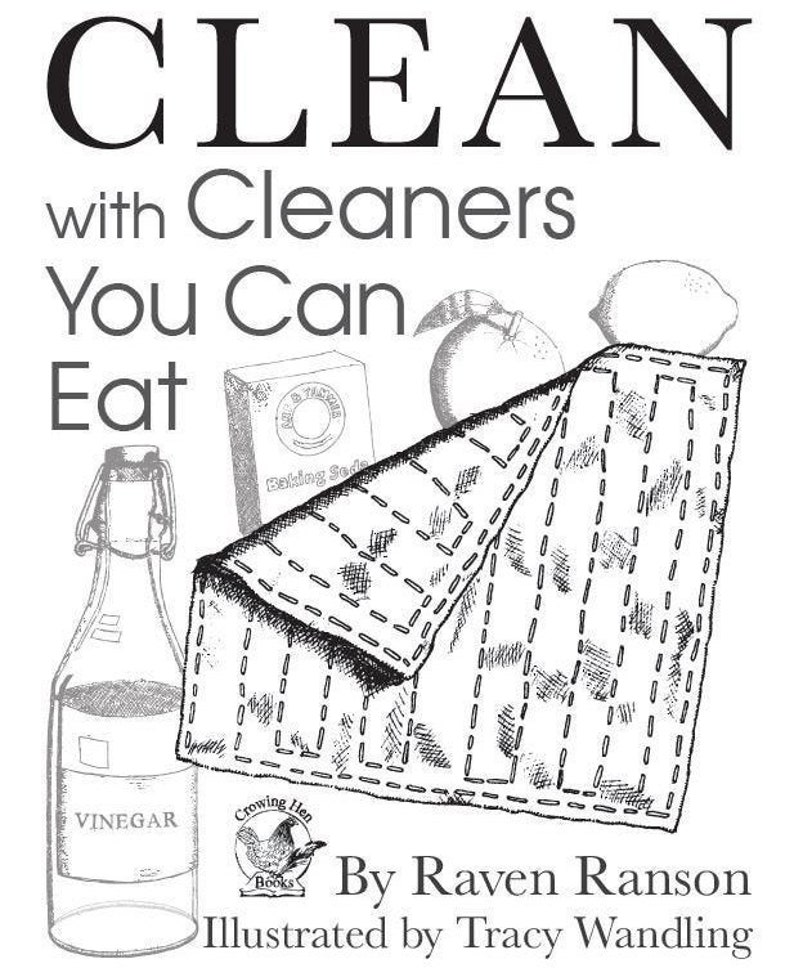 Printable Green Cleaning e-book  Instant Download  Safe home image 0