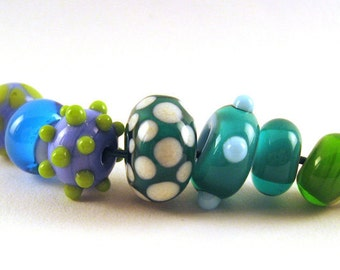 Seaworthy Lampwork Set: 7 fun beads