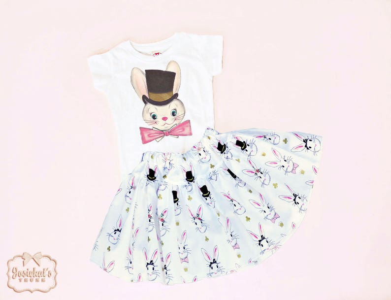 13486c727ee2 Easter Outfit Girl Bunny Top Hat Easter Outfit Infant
