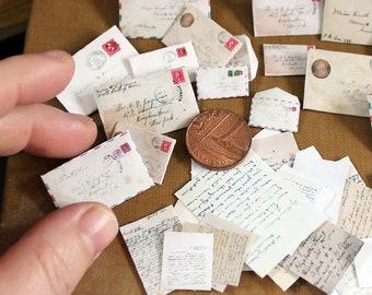 Miniature Vintage Mail - PDF collage sheet download