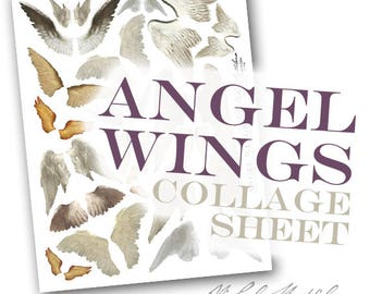 Angel Wings - PDF collage sheet download
