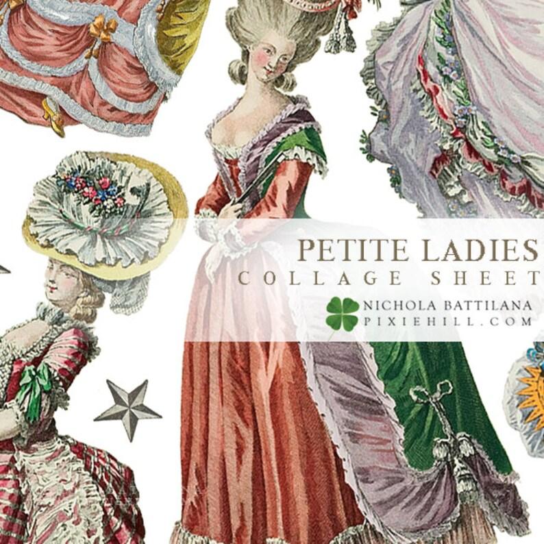 Petite Ladies  PDF collage sheet download image 0