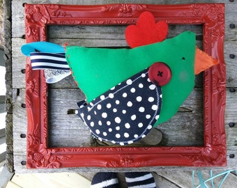 Upcycled CHICKEN Bird decor tween TEEN ROOM decor woodland