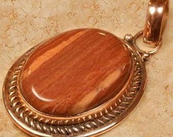 Jasper and Copper Pendant