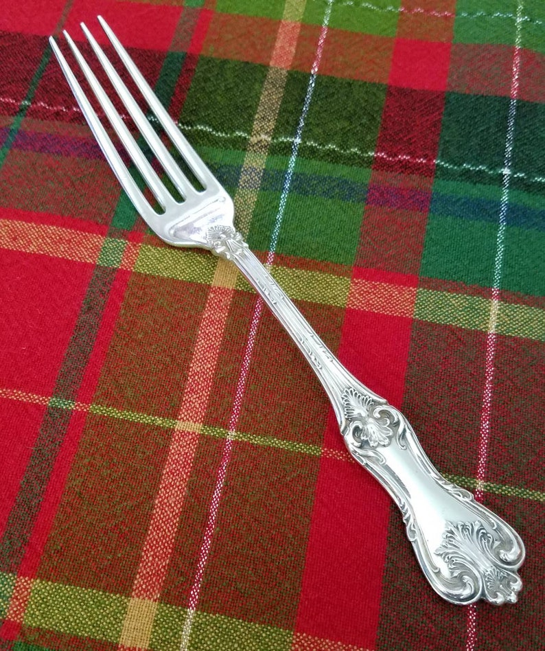 """Federal Cotillion by Frank Smith Sterling Silver BBQ Serving Fork 7 5//8/"""" Custom"""