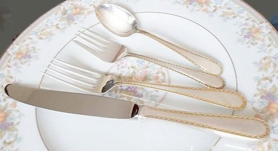 Kirk Stieff Golden Winslow Individual Salad Fork Sterling