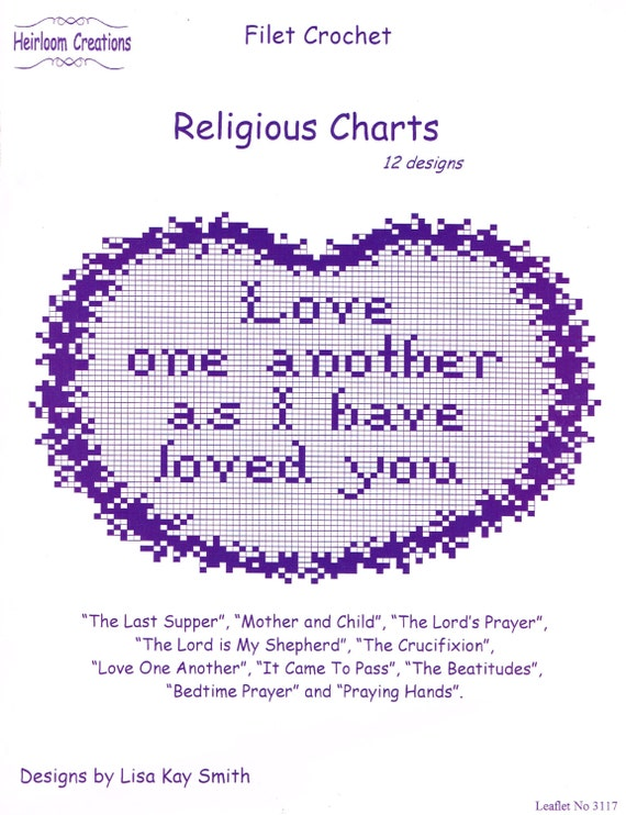 Religious Charts To Crochet In Filet Crochet Pattern Book Etsy