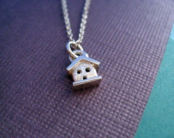 RESERVED:  14K Yellow Gold Teeny House Necklace
