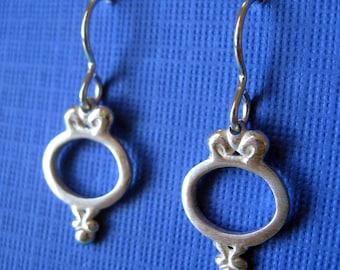 Dangle Earrings Sterling Silver.  Ornate Frame