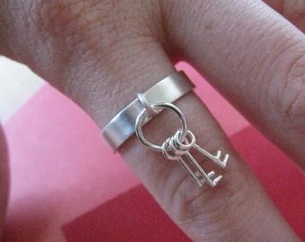 Key Ring Ring Sterling Silver