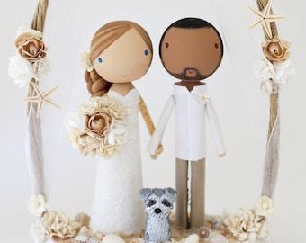 THE BEACH ARCH - custom wedding cake topper
